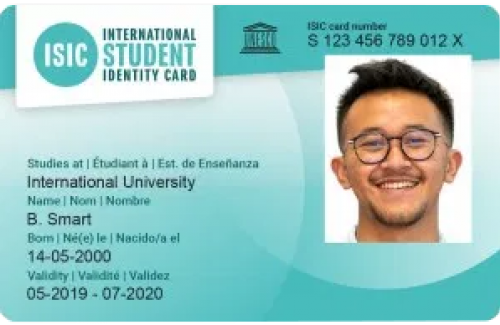 The International Student Identity Card (ISIC) Sample